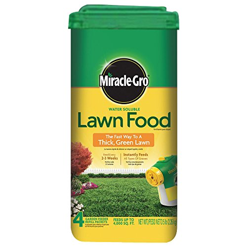 Miracle-Gro 1001833 Lawn Food Water Soluble Lawn Fertilizer (6 Pack), 5 lb (Miracle Gro Water Soluble Lawn Food)