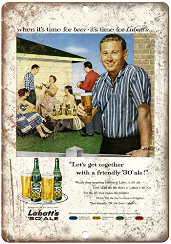 "Labatt's 50 Ale Vintage Beer Ad 10"" x 7"" Reproduction for sale  Delivered anywhere in USA"
