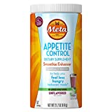 Metamucil Daily Appetite Control Weight Loss Supplements, Unflavored Smoothie Enhancer Sugar Free Fiber Appetite Suppressant, 57 Doses