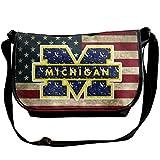 Men Women Michigan Wolverines Logo Fashion Shoulder Bag Satchel Messenger Bag