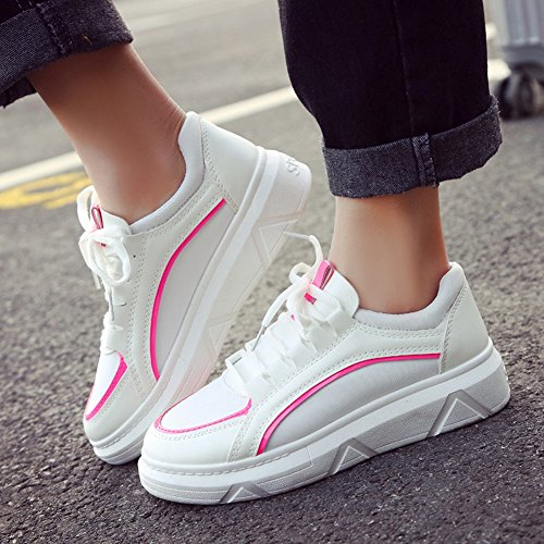 Snbling Womens Casual Spesse Suole Sneakers Fashion Running Sneakers Da Ginnastica Rosse