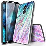 NageBee Case for LG Stylo 5 / Stylo 5X / Stylo 5V / Stylo 5+ Plus with Tempered Glass Screen Protector (Full Coverage), Ultra Slim Thin Glossy Stylish Protective Bumper Cover Phone Case -Nova