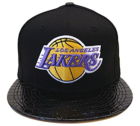b6bd7068808 Image Unavailable. Image not available for. Color  Los Angeles Lakers New  Era 59Fifty Crocodile Run Snapback Cap Hat Black