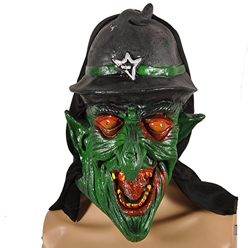 Pusheng Scary Witch Zombie Halloween Costume Mask Witch Red Eyes (Red Eye Mask)