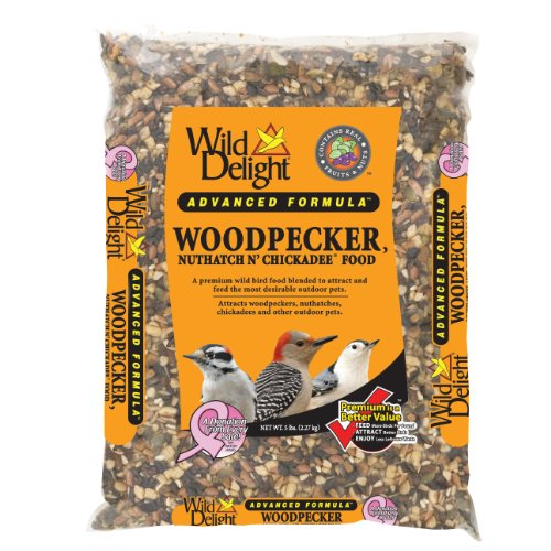 Wild Delight 364050 Advanced Formula Woodpecker Nuthatch N Chickadee Food, 5 Pounds, My Pet Supplies