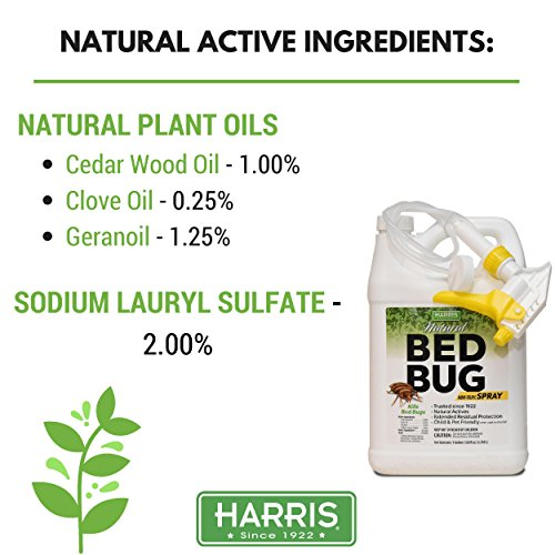 Harris Natural Bed Bug Killer, Fast Acting Non-Toxic Spray with Extended Residual (Gallon) by Harris (Image #4)