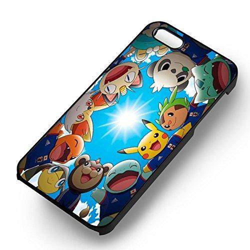 Unique Go Go Pokémon pour Coque Iphone 5 or Coque Iphone 5S or Coque Iphone 5SE Case (Noir Boîtier en plastique dur) S6S7CM