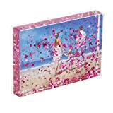 NIUBEE 5x7 Glitter Liquid Valentines Photo Frame,Plastic Acrylic Floati Deal (Small Image)
