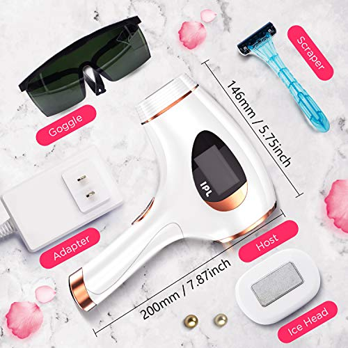 Houselog Hair Removal Permanent Light Hair Removal System Device Painless Hair Remover 500000 Flashes for Women and Men