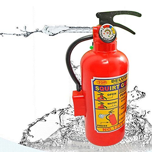 POPIGIST Novelty Gag Game 2pcs in Pack Spray Mini Fire Extinguisher Shape Water Gun Squirter, Funny Bath Beach Drift Water Toy, Every Kids can be a Fireman to Fire The High Heat of Summer]()
