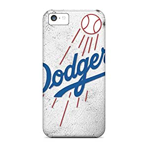 Scratch Protection Hard Cell-phone Cases For Iphone 5c With Custom Lifelike Los Angeles Dodgers Image AlainTanielian