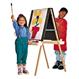 Wholesale CASE of 3 - Quartet Height Adjustable Double Panel Easel-Double Panel Easel, Height Adjustable, Natural Oak