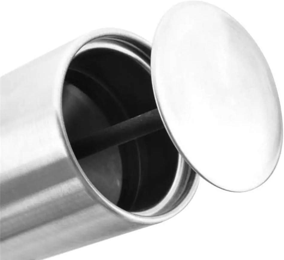 1 ST/ÜCK Tomyeer Zahnstocher-Beh/älter automatischer Zahnstocherhalter aus Edelstahl rund