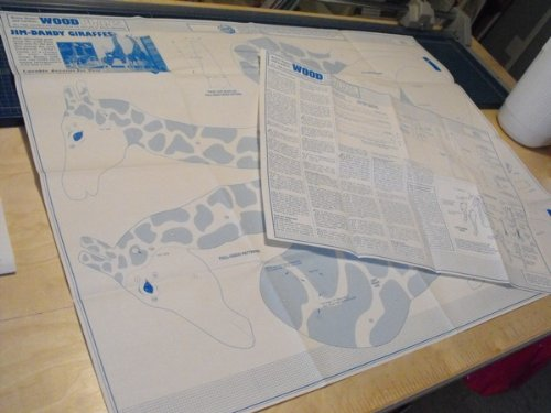 A Full Size Woodworking Pattern and Instructions to Build a 4 Foot Jim Dandy Giraffe