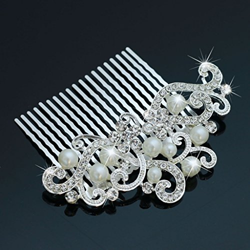 Bridalvenus Decorative Wedding Hair Combs with Rhinestones- Bridal Hair Accessories for Bridesmaids and Flower Girls