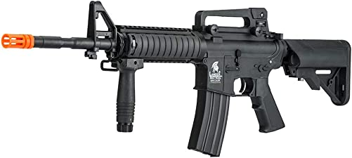 Lancer Tactical Gen 2 Upgraded RIS LT-04 AEG Metal Gear Electric Airsoft Gun, Black