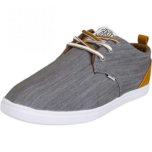 Djinns Sneaker LowLau Denim Luck Grau Grau