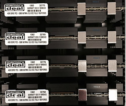 16GB ( 4 X 4GB ) RAM Memory for APPLE MAC PRO 2006 1st Gen 1,1 ( 16 GB DDR2 667MHz ECC FB DIMM) (Mhz Dimm Ecc 667 Ddr2 Fb)