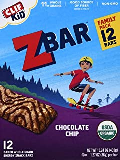 product image for Clif Kid ZBAR - Organic Granola Bars - Chocolate Chip - (1.27 Ounce Energy Bars, Lunch Box Snacks, 12 Count)