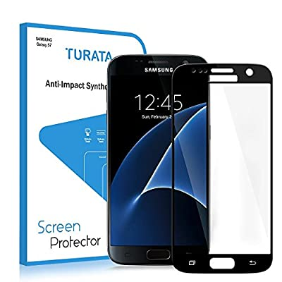 S7 Screen Protector, Galaxy S7 [Full Coverage] Tempered Glass Screen Protector - TURATA® 9H Hardness Tempered Glass Bubble-free Arc Edge Design Screen Protector for Samsung Galaxy S7