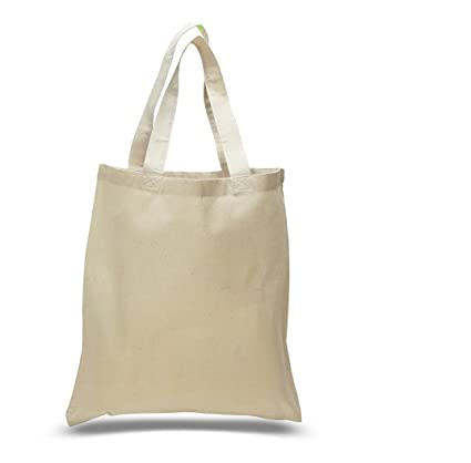 189d858584a4 Amazon.com: (100 PACK) Wholesale Simple Cotton Tote Bags by ...