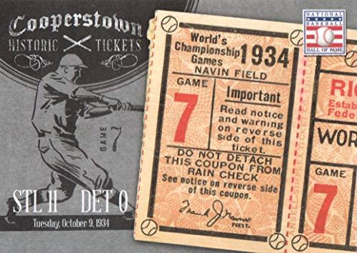 - 2013 Panini Cooperstown Baseball Historic Tickets #10 1934 World Series