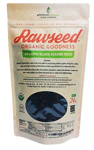 Rawseed Black Sesame Seeds (Raw Unhulled), 1 1/2 Lbs Organic Certifed - Raw Sesame Seeds