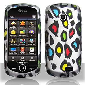 Snap On Hard Protector Cover Case For Samsung Solstice II A817 - Colorful Leopard