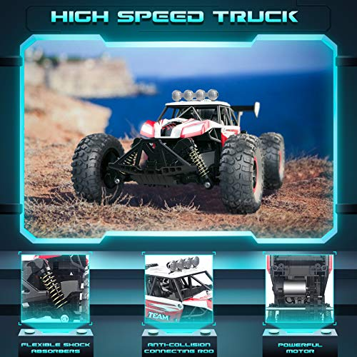 RC Car, SPESXFUN 2021 Newest 1:14 Scale High Speed Remote Control Car, 2.4Ghz Off Road RC Trucks with Two Rechargeable Batteries, Electric Toy Car for All Adults & Kids