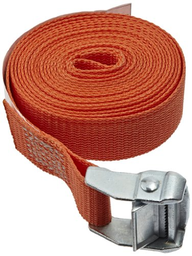 Rack-Strap CS15-O12NH Polyester Webbing Cinch Strap with Zinc-Diecast Rust Proof Buckle, 500 lbs Capacity, 12' Length x 1-1/2