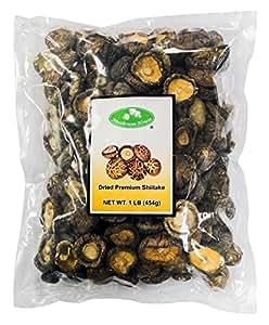 Mushroom House Dried Mushrooms, Shiitake, 4-6 Cm, 1 Pound