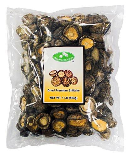 (Mushroom House Dried Mushrooms, Shiitake, 4-6 Cm, 1 Pound)