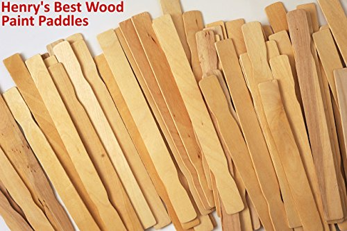 Wood Paint Stir Sticks 12 in. Bulk 1000 Pack | Stick to Mix Wax, Epoxy or Resin Made in USA | Guaranteed Satisfaction by Henry's Best