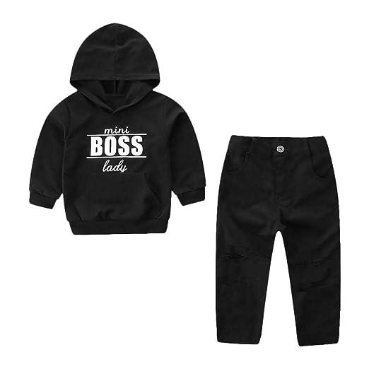 e4bfcf5bb Amazon.com  Lavany Baby Clothes Set 2PC Kids Boy Girl Hoodie Letter ...