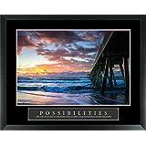 Possibilities Pier Stunning Ocean Sunset Seascape Motivational Poster