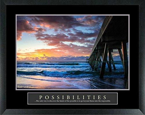 WallsThatSpeak Framed Motivational Art Print 22x28 Inches (Pier - Frames Inspiration