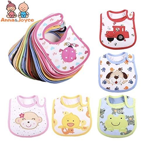 Baby Bib Pattern 15pc/lot Bibs Lovely Cute Cartoon Pattern Toddler Baby Waterproof Towels Choosed Cotton Baby Bibs Gifts 0-3 Years