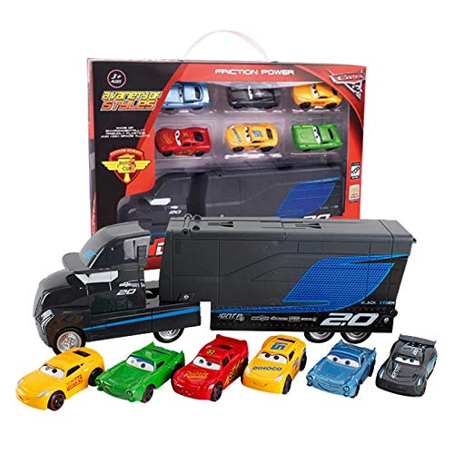 0eff25fcf4d5e METRO TOY'S & GIFT 7 Pieces Set Disney Pixar Cars 3 Lightning McQueen  Jackson Storm Mack Uncle Truck 1:55 Alloy Toy Truck Cars Toy for ...