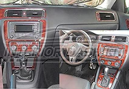VOLKSWAGEN JETTA INTERIOR BURL WOOD DASH TRIM KIT SET 2011 2012 2013 2014