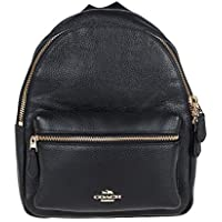 Mini Charlie Pebble Leather Backpack