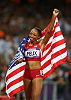 Allyson Felix Sports Poster Photo Limited Print Sexy Celebrity USA Olympic Track & Field Running Women Athlete Size 11x17 #2