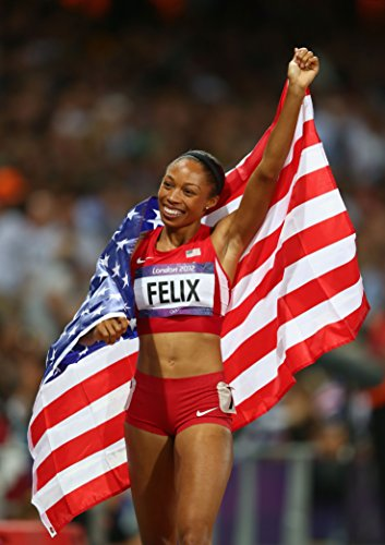 Allyson Felix Sports Poster Photo Limited Print Sexy Celebrity USA Olympic Track & Field Running Women Athlete Size 8x10 #2