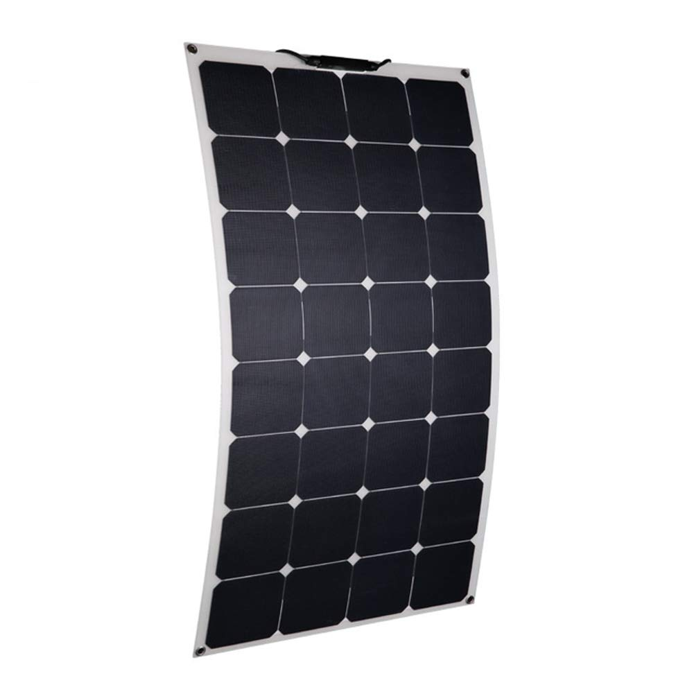 100W Flexible Solar Panels, 12V/24V Safety Solar Chargers, Suitable for Roofs, Outdoors and Cars, 10 Years Service Life