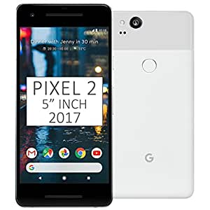 "Pixel 2 Phone (2017) by Google, G011A 128GB 5"" inch Factory Unlocked Android 4G/LTE Smartphone (Clearly White) - International Version"