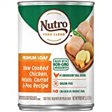 Image of NUTRO PREMIUM LOAF Adult Canned Natural Wet Dog Food Slow Cooked Chicken, Potato, Carrot & Pea Recipe, (12) 12.5 oz. Cans