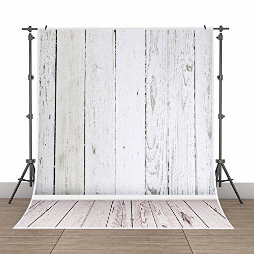 5x7ft Photography Background Vinyl Backdrop Paper Studio Props-Gray Vertical Grainy Wood Floor