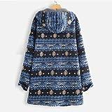Women Plus Size Winter Warm Outwear Floral Print