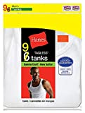Hanes Men's 9-Pack White 100% Cotton A-Shirts Tanks 372AG9 (Large (Chest 42