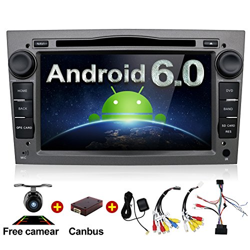 Android 6.0 Quad Core 7'' GPS Car DVD Player For Opel Astra Vectra Zafira Antara Corsa Radio Navigation Stereo Audio and Video Color Gray Free Camera & Canbus by BOSION Navigation