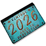 RFID Passport Holder Vintage Year 2026, Born/Made, Cover Case / Wallet - Neonbl